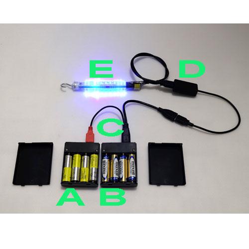 Zdroj ktorý dáva 5V z 8xAA batérií pomocou invertora, ktorý mení napätie už od 0,9V.