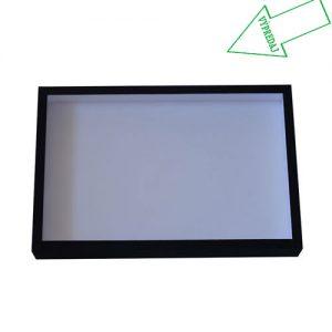 Entomologická škatuľa 39x26 dno s bielou penou, veko so sklom potiahnutá čiernym knihárkym plátnom. Posledný kus vo výpredaji.
