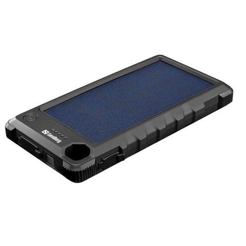 Powerbamk 10000mAh so solárnym panelom outdoor prevedenie.