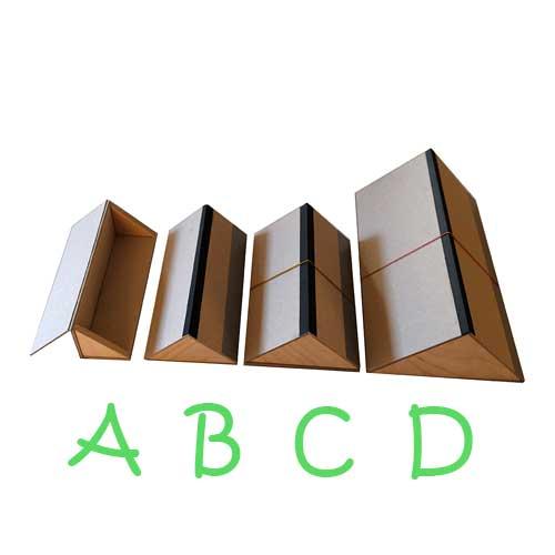 Škatulky pre ukladanie pregamenových vreciek s motýľmi.