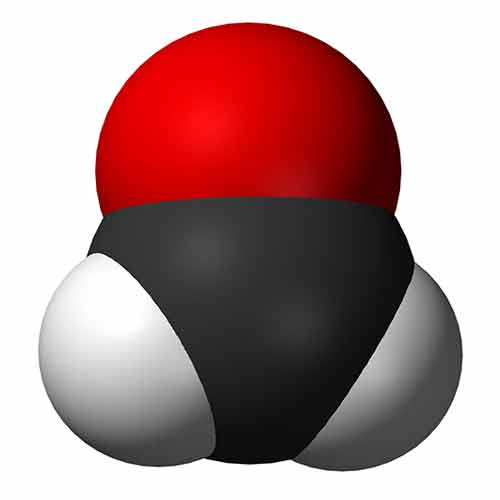 Molekula formaldehydu 3D