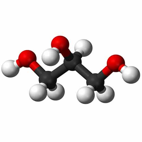 Molekula glycerínu 3D
