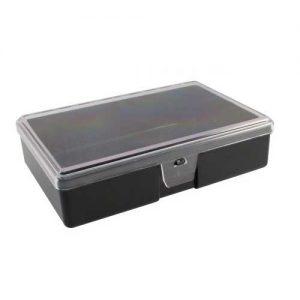 Prepravná entomologická škatuľa s transparentným vrchnákom a penou vo vnútri.