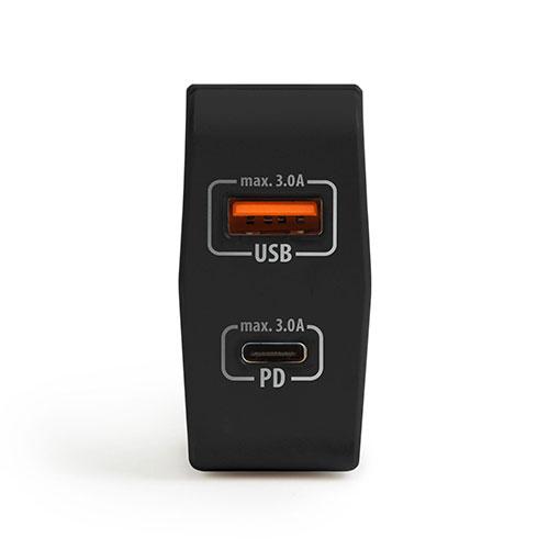 Nabíjačka USB + rýchlonabéíjanie USBC PD 18W